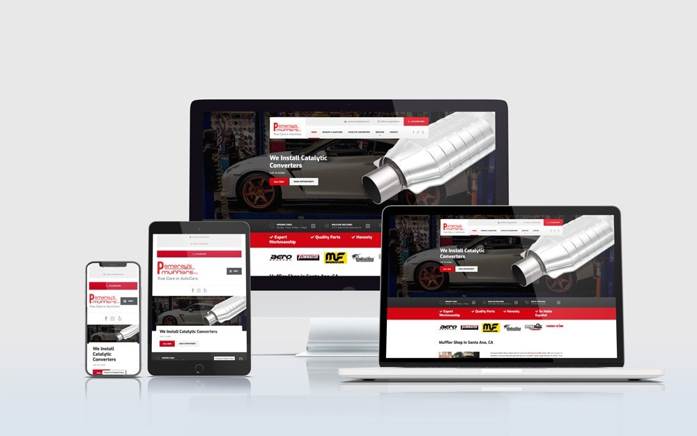 Auto Repair Shop Web Design